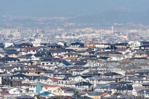 residential district on hill in kanagawa prefecture in japan - kanagawa prefecture stock pictures, royalty-free photos & images