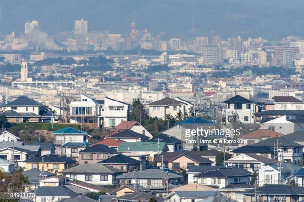 residential district on hill in kanagawa prefecture in japan - chigasaki stock pictures, royalty-free photos & images