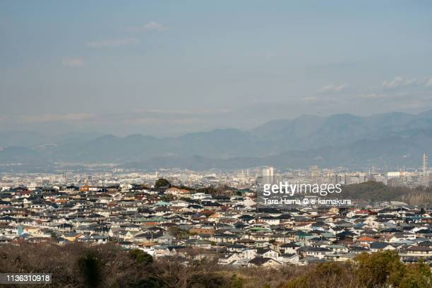 residential district on the hill in japan - townscape stock pictures, royalty-free photos & images
