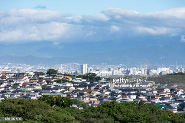 residential district on the hill in japan - chigasaki stock pictures, royalty-free photos & images