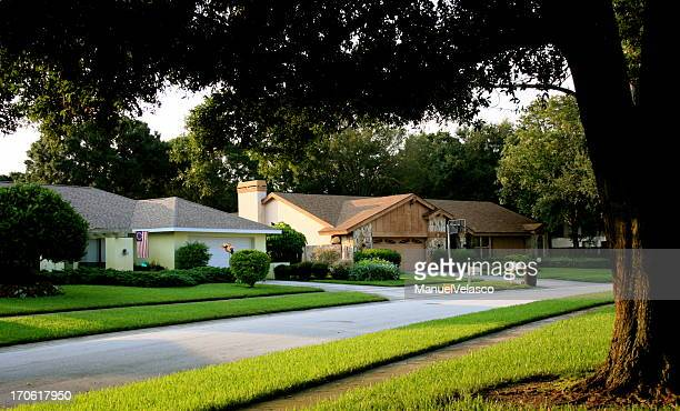residential district - st. petersburg florida stock photos and pictures