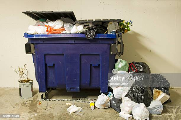 residential dumpster - garbage bin stock pictures, royalty-free photos & images