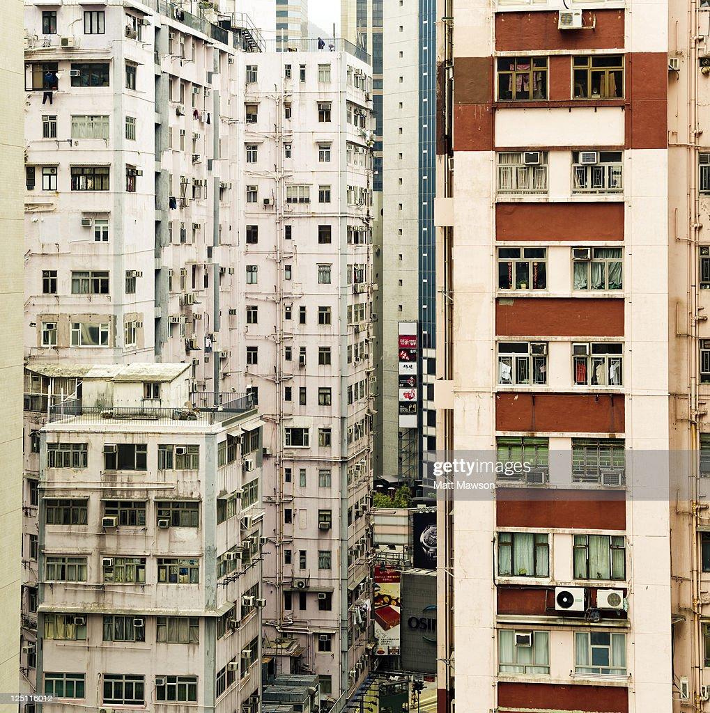 High Rise Apartments: Residential High Rise Apartments Hong Kong China High-Res