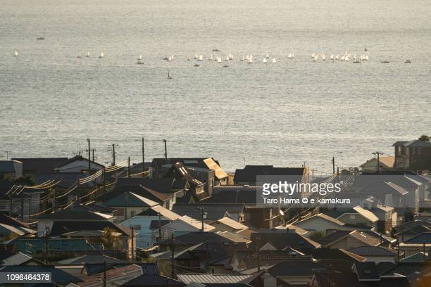 Residential hill by the sea in Kamakura city in Japan