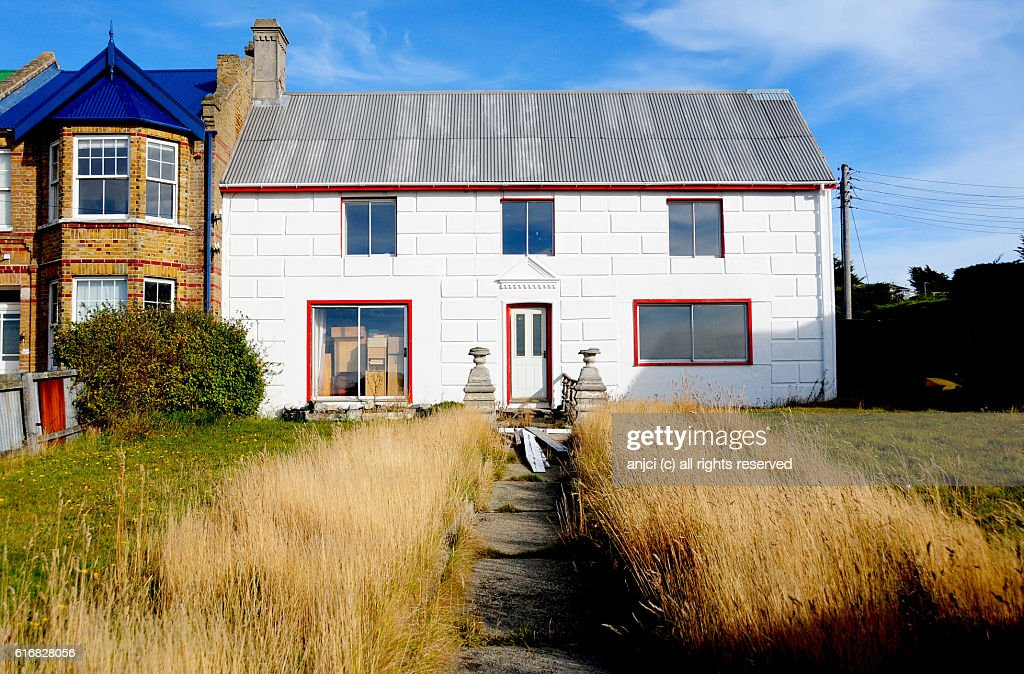 Residential home in Stanley / Falkland Islands : Stock Photo