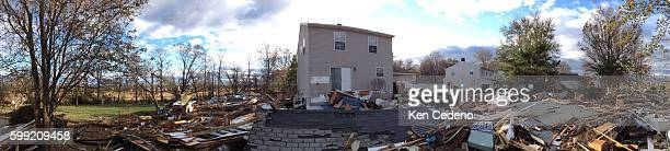 Residential homes sit severely damaged by Superstorm Sandy in Union Beach, N.J. November 3, 2012. Photo Ken Cedeno