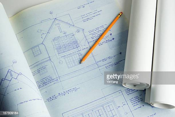 Residential House Blueprint Plan for New Home Addition and Construction