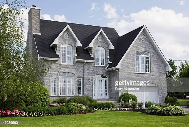 residential house, quebec, canada - tradition stock pictures, royalty-free photos & images