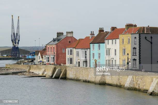 Residential houses at Hartlepool headland in Hartlepool, U.K., on Monday, April 26, 2021. Hartlepool holds a vote on May 6 that will be a critical...
