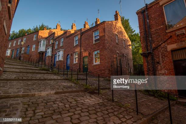 Residential houses stand on the cobbled Crowther Street in Stockport UK on Monday June 22 2020 The Brexitsupporting regions that propelledPrime...