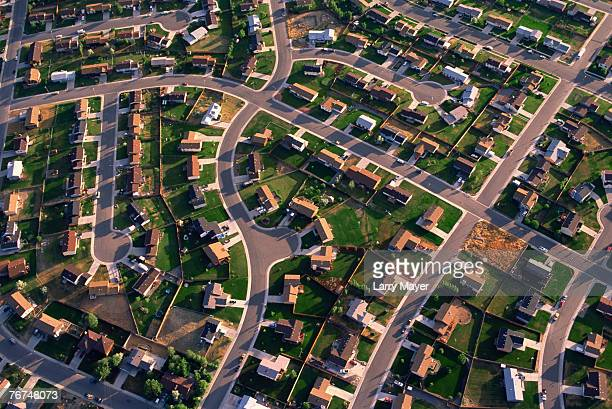 residential housing development in billings, montana - billings montana stock pictures, royalty-free photos & images