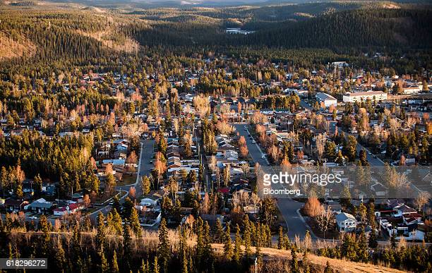 Residential housing stands in the downtown area of Whitehorse Yukon Canada on Thursday Oct 13 2016 Bennett British Columbia was once a thriving...