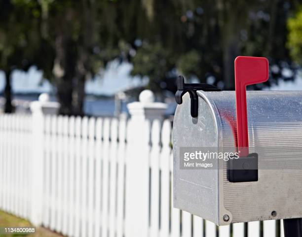 residential mailbox - mailbox stock pictures, royalty-free photos & images
