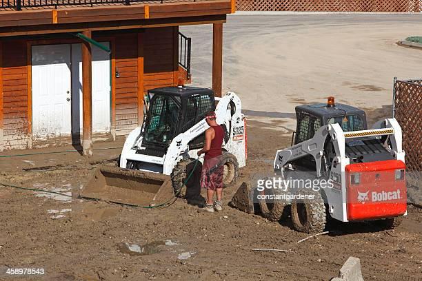 Colata di fango di pulizia