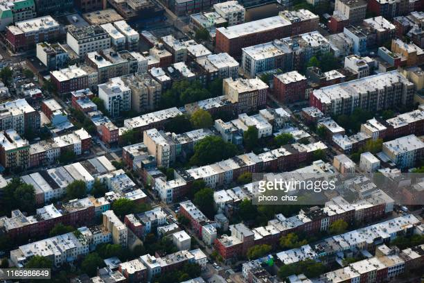 residential neighborhood from above - queens new york city stock pictures, royalty-free photos & images