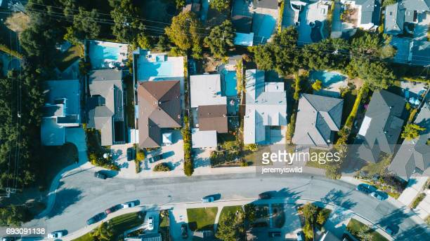 residential neighborhood - residential district stock photos and pictures