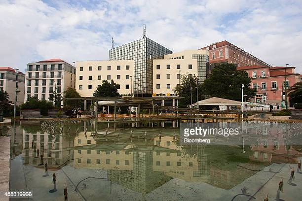 Residential properties and apartments border Martim Moniz square where Chinese buyers have targeted real estate at auction in Lisbon Portugal on...