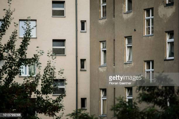Residential properties are pictured on August 08 2018 in Berlin Germany