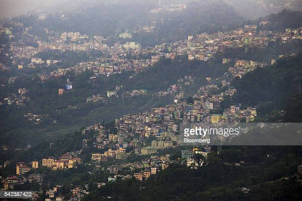 Residential properties stands on hillsides in Gangtok Sikkim India on Tuesday May 3 2016 For more than a decade in the Himalayan foothills and across...