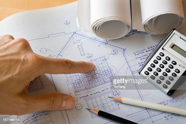 Residential Real Estate Home Improvement and Addition Construction Blueprint Plan