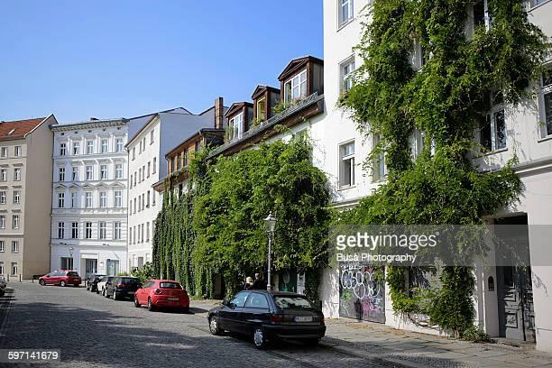 Residential street in Berlin, district of Mitte