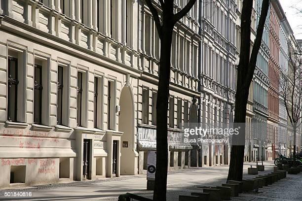 Residential street in Berlin, Germany