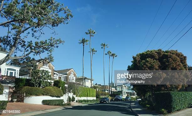 Residential street in La Jolla, near San Diego, California, United States