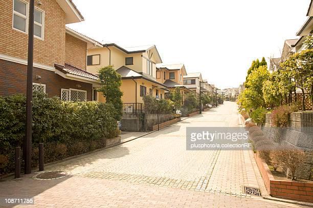 Residential street, Yokohama City, Kanagawa Prefecture, Honshu, Japan