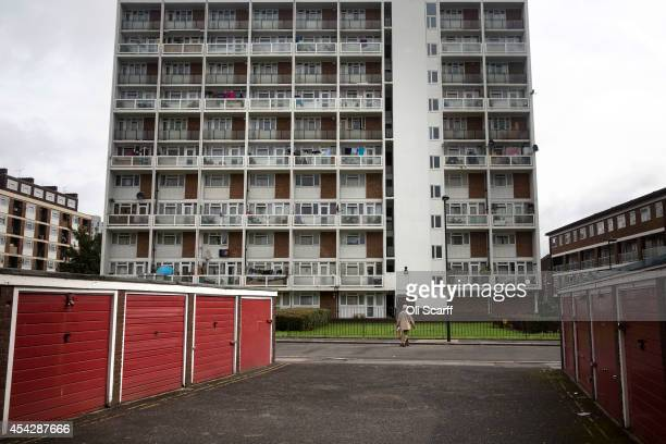 A residential tower block in an area of Lambeth with a high concentration of social housing on August 28 2014 in London England A report from the...