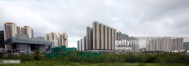 Residential tower blocks stand in the Tseung Kwan O area of the New Territories in Hong Kong China on Tuesday Sept 4 2012 Hong Kong will boost the...