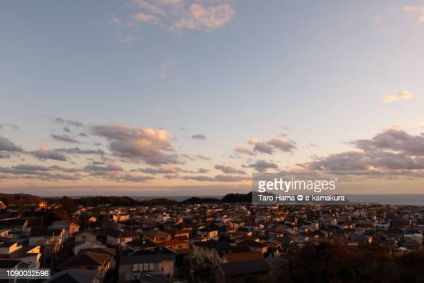 residential town by the sea in kamakura city in japan - 町 ストックフォトと画像
