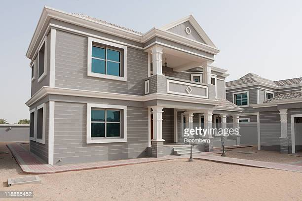 A residential villa stands unoccupied since its construction at the Falconcity of Wonders development in Dubai United Arab Emirates on Monday July 11...