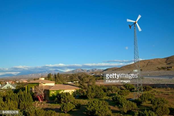 Residential wind turbine Palmdale Los Angeles County California USA