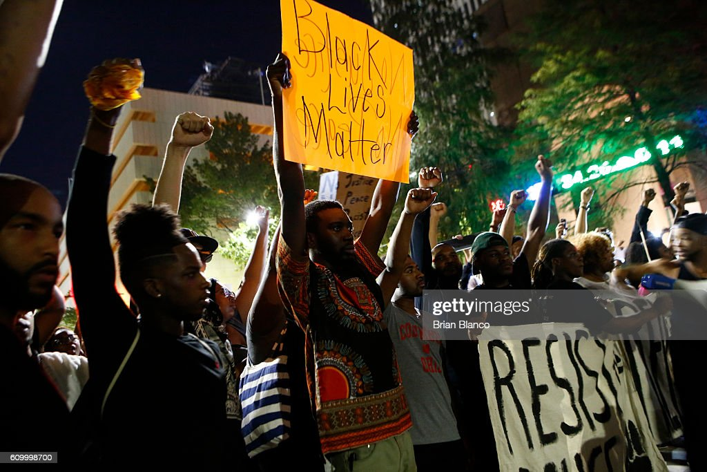Charlotte Continues To Deal With Community Outrage And Protests Over Police Shooting : News Photo