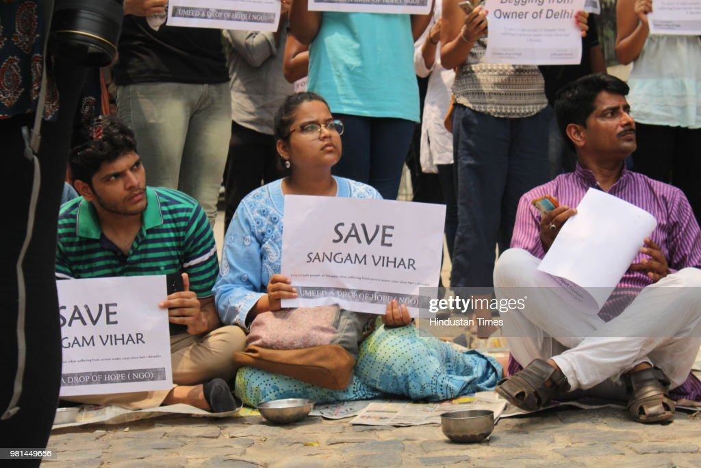 Citizens Protests In Delhi Over Water Crisis