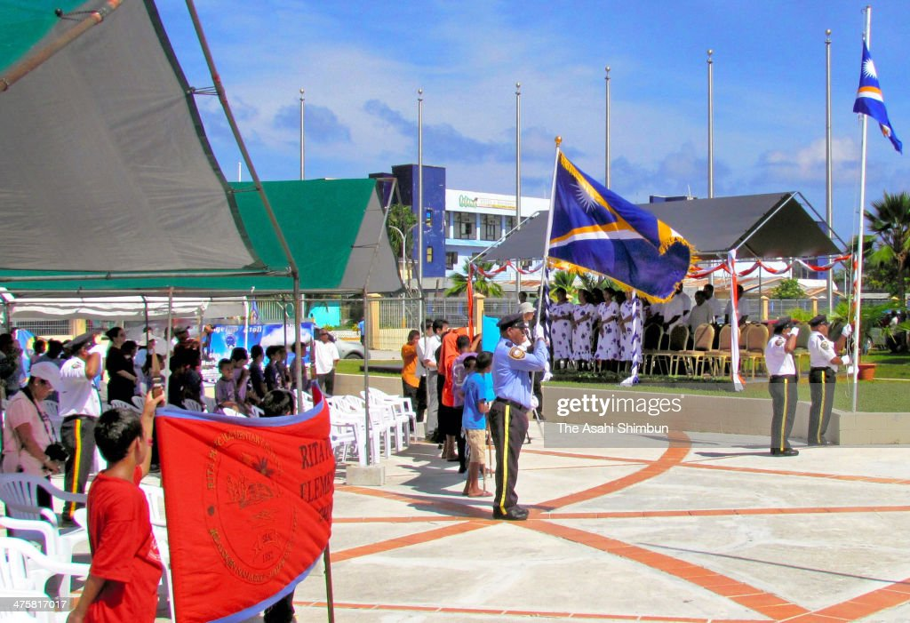 Residents and survivors of the 'Castle Bravo' hydrogen bomb project, attend the ceremony to commemorate the 60th anniversary on March 1, 2014 in Majuro, Marshall Islands. The U.S. conducted 67 tests of nuclear weapons in the Marshall Islands, the site of the U.S. Pacific Proving Grounds, between 1946 and 1958, residents and fishermen including Japanese exposed when a 15-megaton bomb was detonated as part of the U.S. Castle Bravo project. The bomb was 1,000 times more powerful than the atomic bomb dropped on Hiroshima.