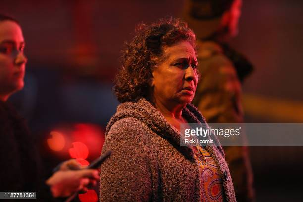 Residents are kept back as emergency personnel work the scene of a shooting that left multiple people dead on December 10 2019 in Jersey City New...