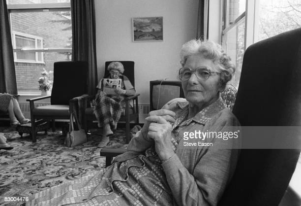 Residents at an old people's home in Middlesbrough 1986