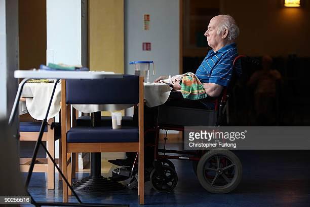 Residents at Broughton House exserviceman's residential home relax in the day room as they reflecton the war years on September 1 2009 in Salford...