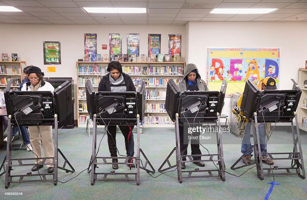 Ferguson, Missouri Residents Vote On Election Day : News Photo