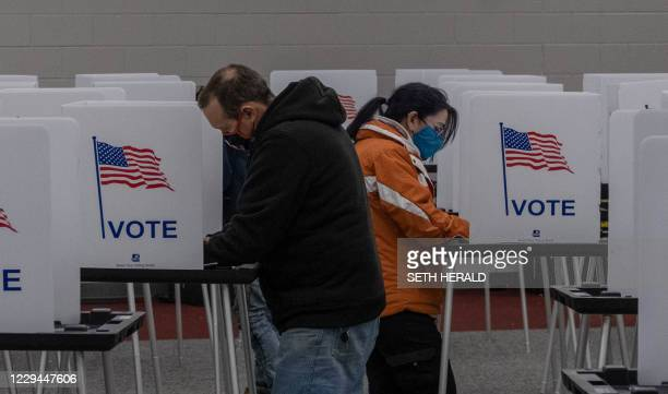 Residents cast their votes on November 3 at Mott Community College in Flint, Michigan.