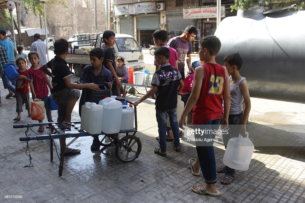 Water supply cut in Aleppo : News Photo