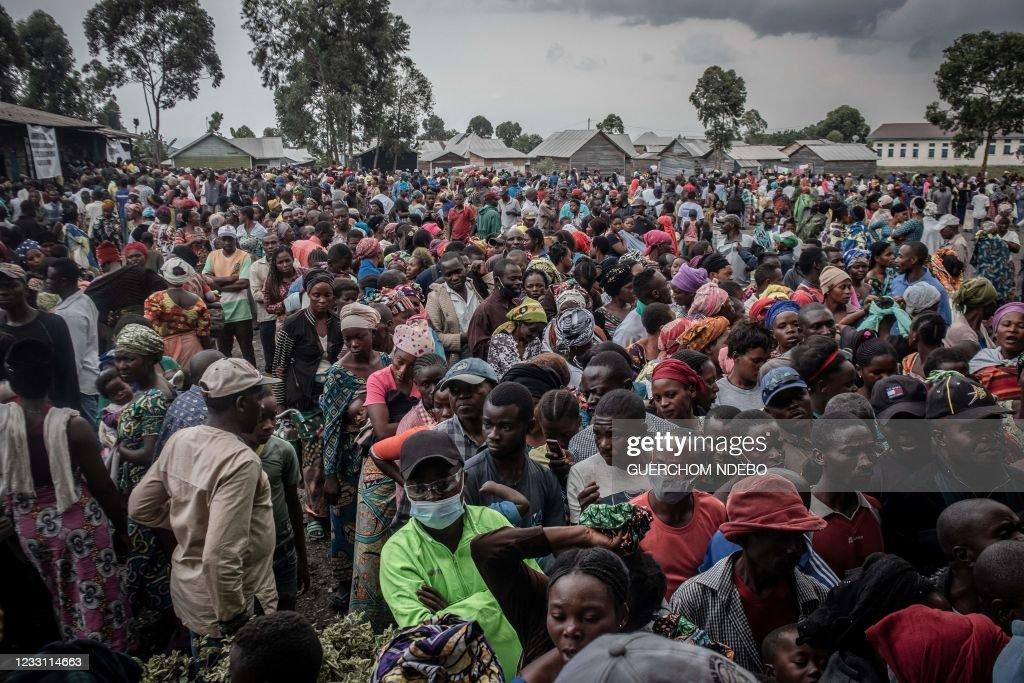TOPSHOT-DRCONGO-DISASTER-VOLCANO-AID : News Photo