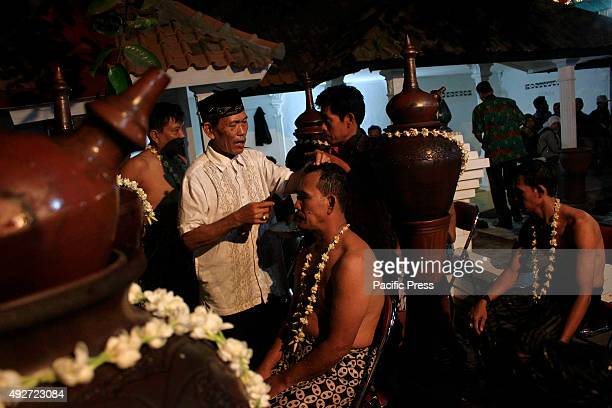 LANANG KULONPROGO YOGYAKARTA INDONESIA Residents during a ritual procession of Ruwatan Sukerta at Gunung Lanang The tradition is held regularly at...