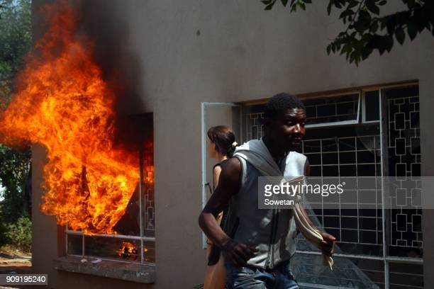 Residents from Kagiso invade the CBD to evict foreigners in their fight against prostitution and drugs on January 22 2018 in Krugersdorp South Africa...