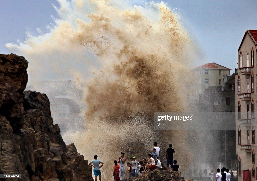 CHINA-TYPHOON-SOUDELOR : News Photo