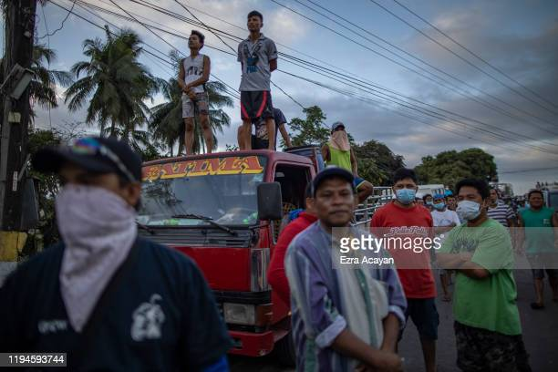Residents hoping to retrieve belongings from their homes are barred from entering the permanent danger zone close to the erupting Taal Volcano on...