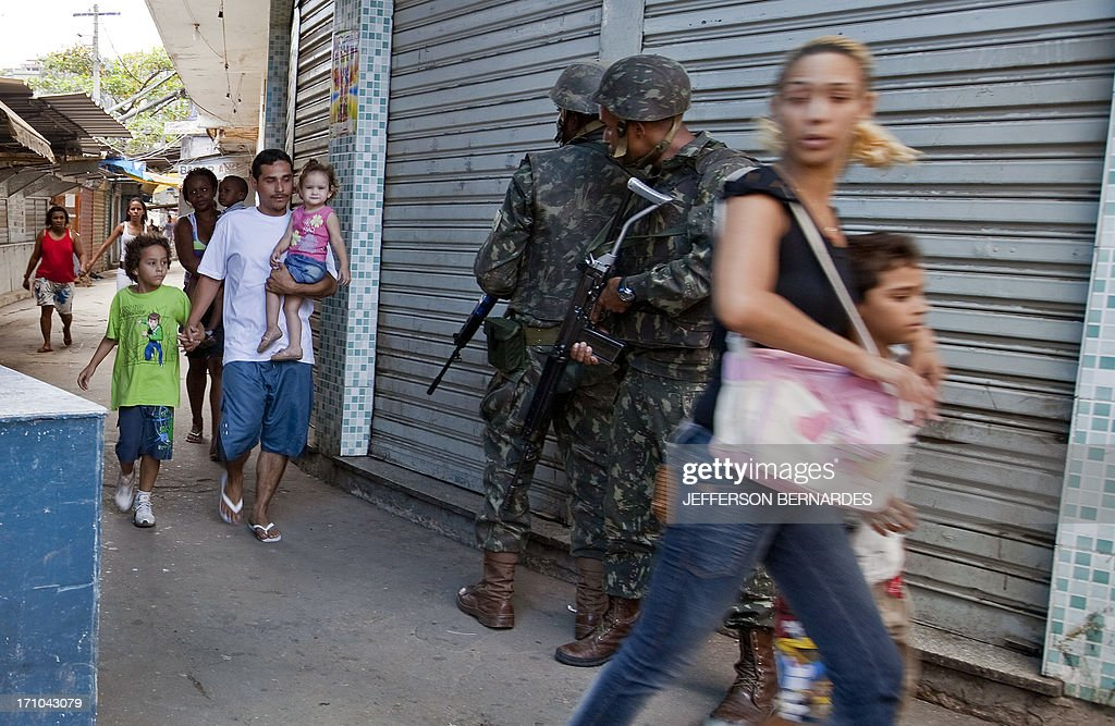 Brazilian soldiers on leave