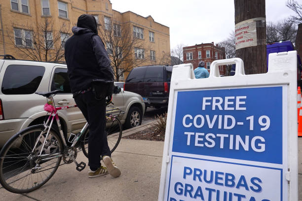 IL: People Wait To Get Tested For Covid After Holiday Weekend