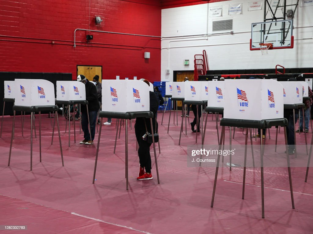 Early Voting Begins In Maryland : News Photo